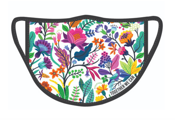 Floral Triple Layer Face Mask - Pack of 2