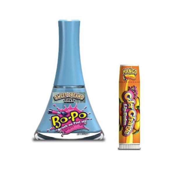 Bo-Po Sweet Dreams Nail Polish with Bonus Mango Colour Change Lip Balm