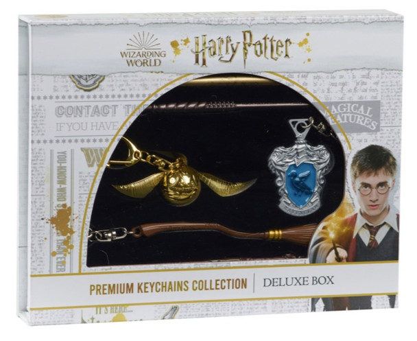 Harry Potter Metal Die Cast Premium Collection Keychain Deluxe Box - Golden Snitch & Ravenclaw