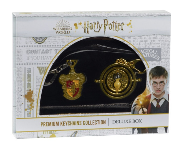 Harry Potter Metal Die Cast Premium Collection Keychain Deluxe Box - Griffindor & Timeturner