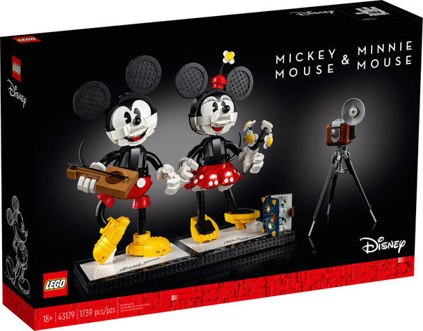 LEGO® Disney 43179 Mickey Mouse & Minnie Mouse Buildable Characters