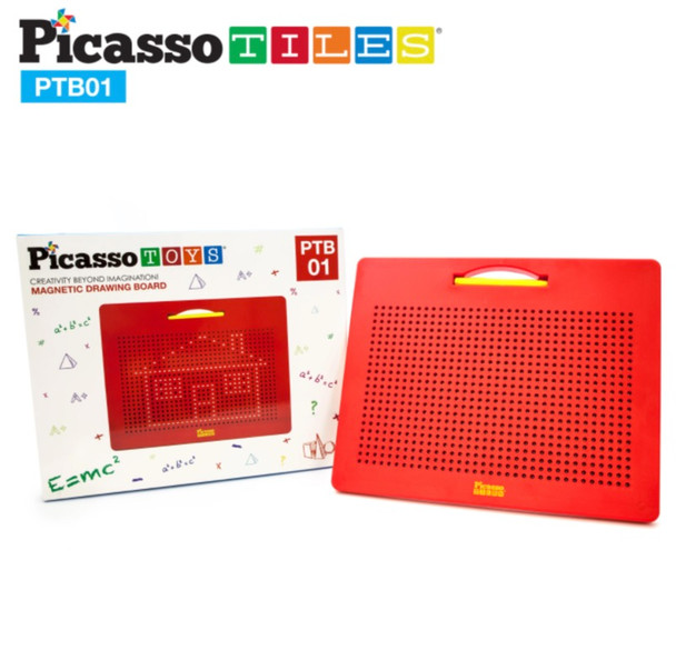 """PicassoTiles® Large 12""""x10"""" Magnetic Drawing Board with 748 Beads PTB01"""
