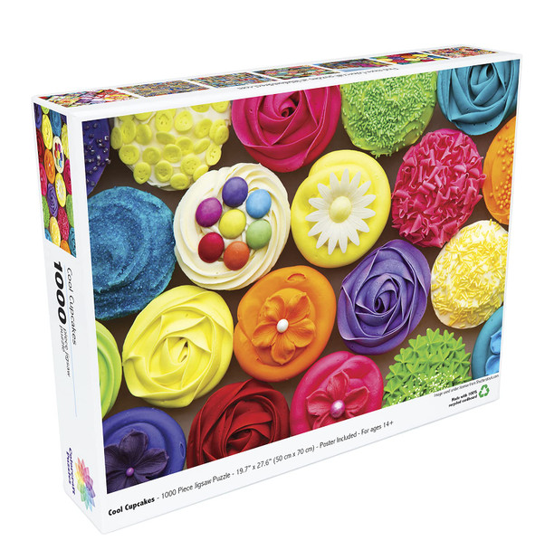 1000 Piece Puzzle for Adults - Cool Cupcakes Jigsaw Puzzle