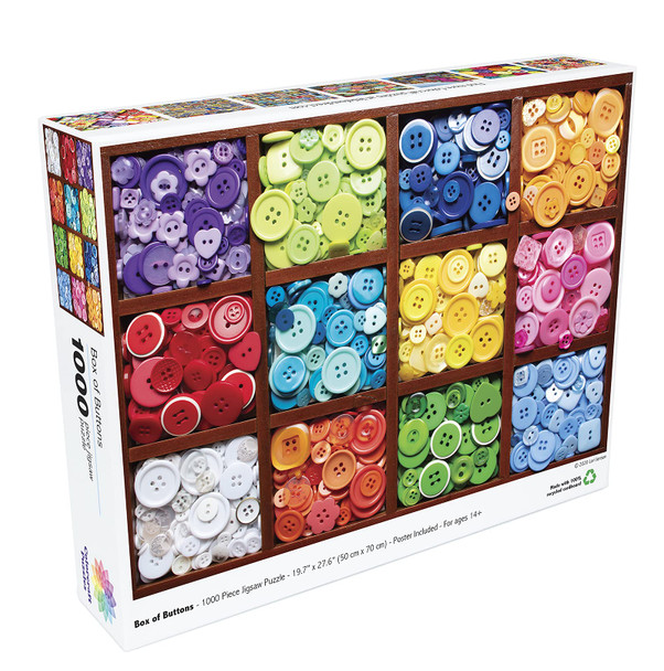 Colorcraft 1000 Piece Puzzle, Box of Buttons Jigsaw Puzzle