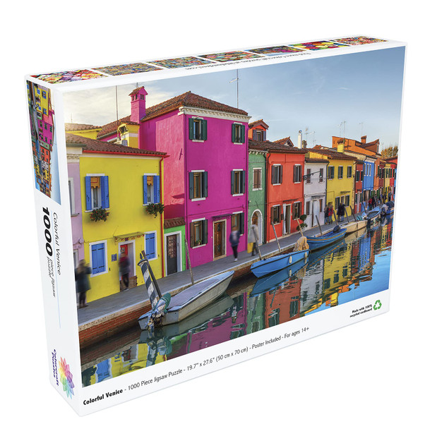 Colorcraft 1000 Piece Puzzle, Colorful Venice Jigsaw Puzzle