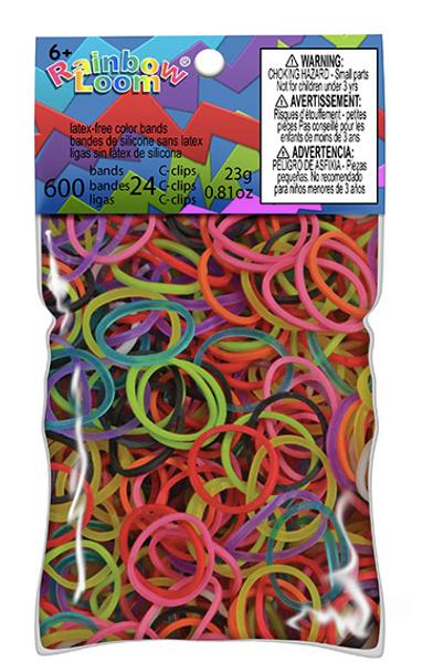 Rainbow Loom Multicolour Multi Colour Bands
