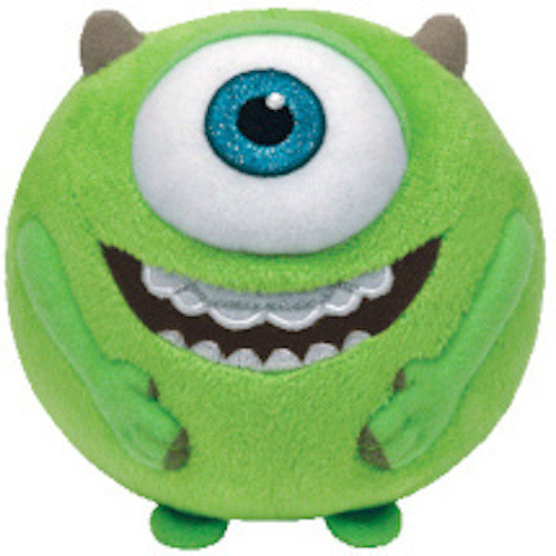 66e9e138efb Ty Beanie Ballz Mike Wazowski - Monsters Inc Plush ...