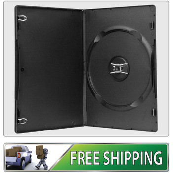 50 X DVD Cases single black 7mm spine - Holds 1 Disc