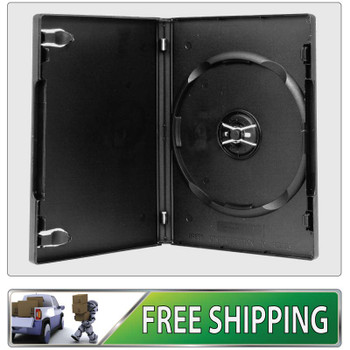 5 X DVD Cases single black 14mm spine - Holds 1 Disc