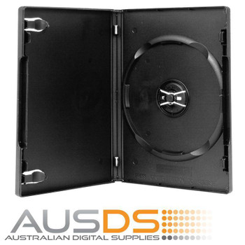 100 X DVD Cases single black 14mm spine - Holds 1 Disc