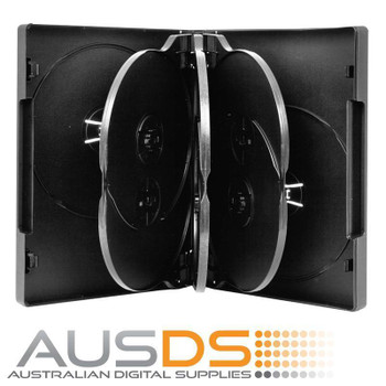 DVD Case - black 26mm spine - Holds 5 Discs