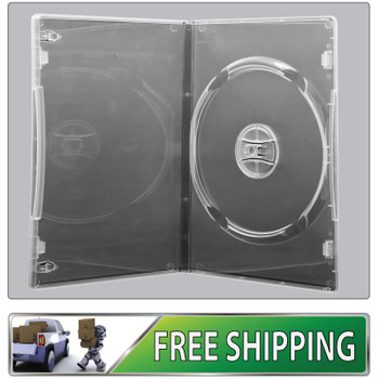 DVD Case - clear 7mm spine - Holds 1 Disc with free shipping