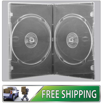 DVD Case - clear 7mm spine double - Holds 2 Discs -  Free Delivery