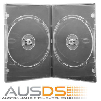 DVD Case - clear 7mm spine double - Holds 2 Discs