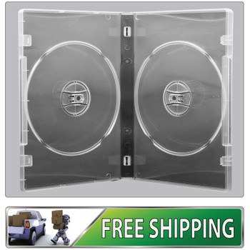 DVD Case - clear 14mm spine - Holds 2 discs with free shipping