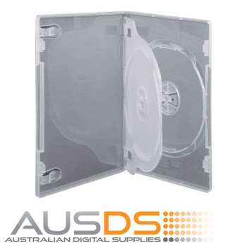 DVD Case - clear 14mm spine - Holds 3 discs