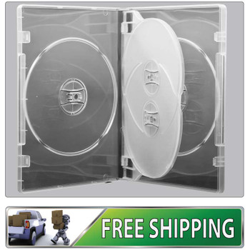 DVD Case - clear 14mm spine - Holds 4 discs with free delivery