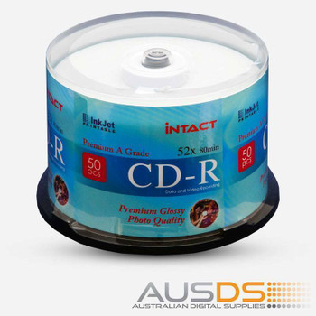 Intact CD blank disc media - Printable CD-R discs gloss - 52X burn