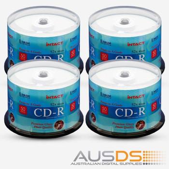 Intact CD blank disc media - Printable CD-R discs gloss - 52X burn