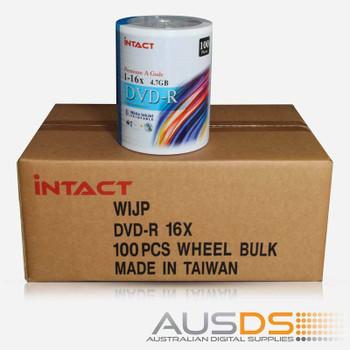 Intact DVD blank disc media - Printable DVD-R discs matte - 16X burn