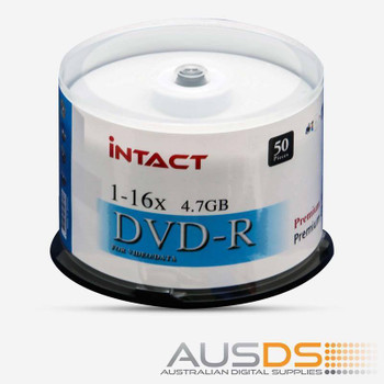 Intact DVD blank disc media - Printable DVD-R discs gloss - 16X burn