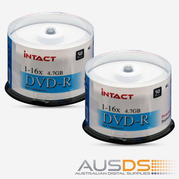 Intact DVD blank disc media - Printable DVD-R discs gloss - 16X burn