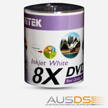 Ritek DVD blank disc media - Printable DVD-R discs matte - 8X burn