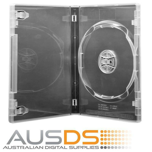 DVD Case - clear 14mm spine - Holds 1 Disc