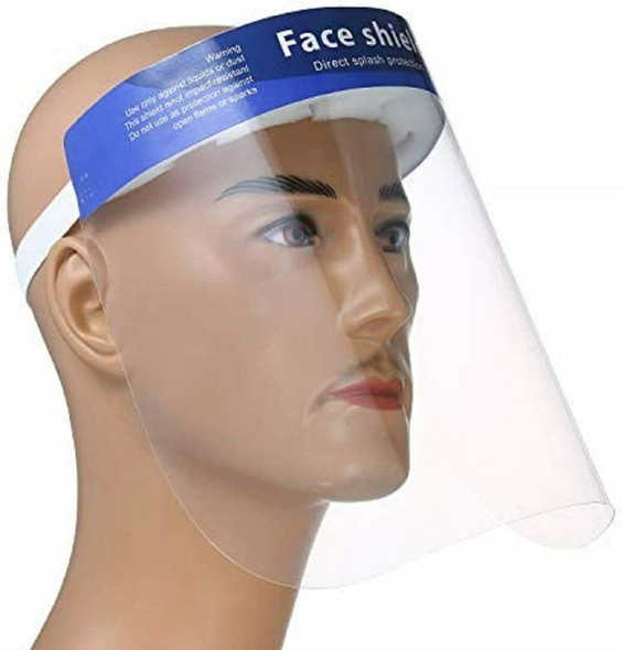 Safety Full Face Shield Clear 10/Pack