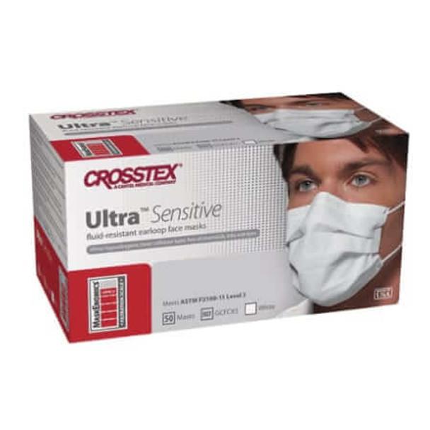 Mask Ultra Sensitive Earloop Wht 50/Box