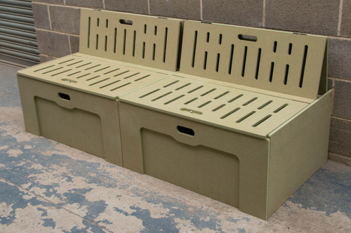 Bench Seat Campervan Bed 1900mm in moisture resistant MDF