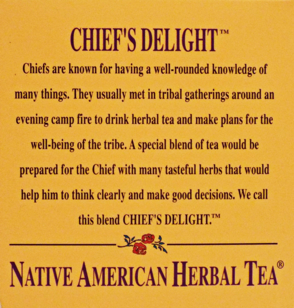 Chief's Delight - Strawberry Leaf, Blackberry Leaf, Juniper Tea