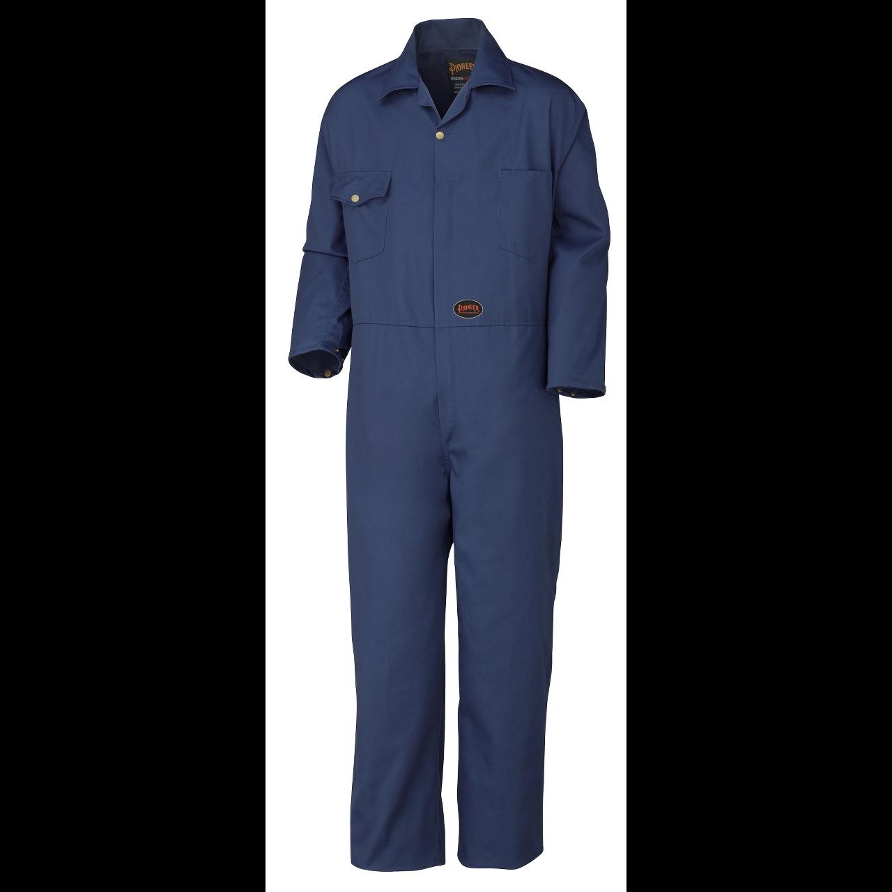 Pioneer V2020180-L Multi-Pocket Shop /& Garage Work Coat Navy Blue-Large