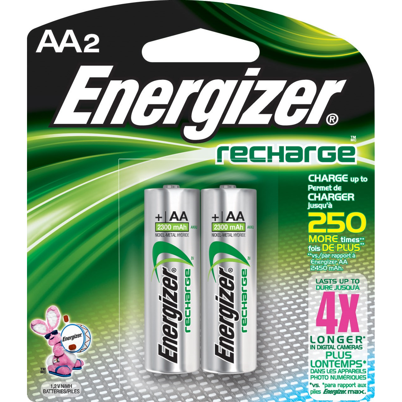 goedkoopste goede verkoop nieuwe stijlen Energizer® Rechargeable AA Batteries - NH15BP2 - Sabre ...