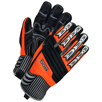 Black//White Medium Bob Dale 20-1-10735-M Heavy Duty Cycling Glove and Leather Palm and Gel Packs