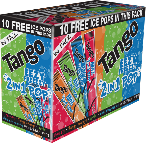 Tango 2 in 1 Pops in 4 x Great flavours.