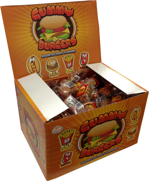 Gummy Burger - Mixed Fruit Flavours
