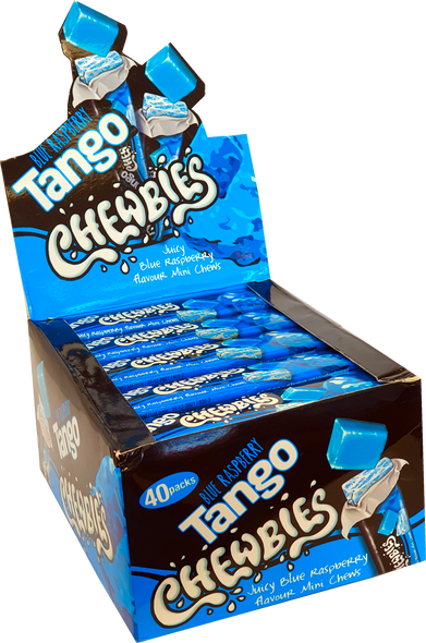 Tango chewbies blue raspberry display