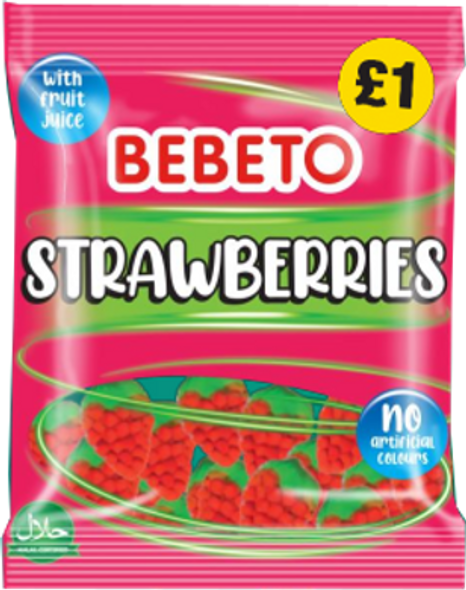 Bebeto Strawberries - 4 x 10 x 150g