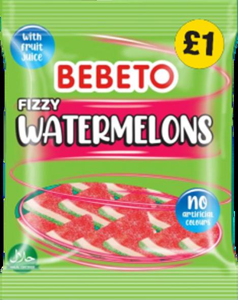 Bebeto Fizzy Watermelon - 4 x 10 x 150g