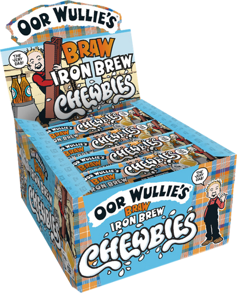Coming Soon: Oor Wullie Iron Brew Chewbies  - 12 x40 x 30g