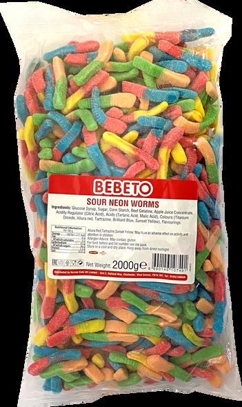 Bebeto Sour Worms - 1 x 6 x 2kg