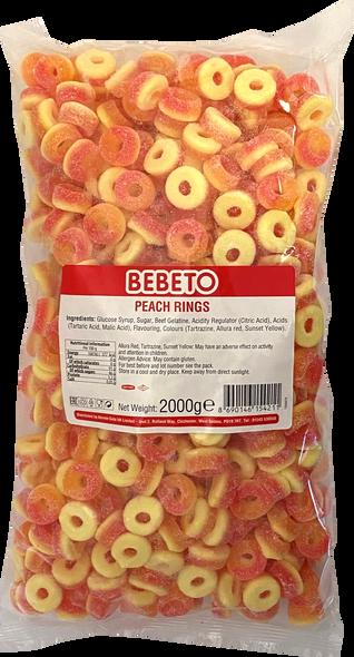 Bebeto Peach Rings - 1 x 6 x 2kg
