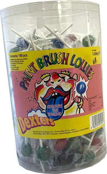 Dexters Paint Brush Lolly - 6 x 180 x 5.6g