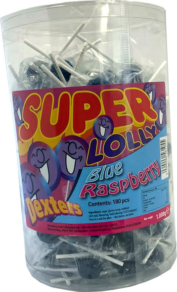 Dexters Super Lolly Blue Raspberry - 6 x 180 x 5.6g