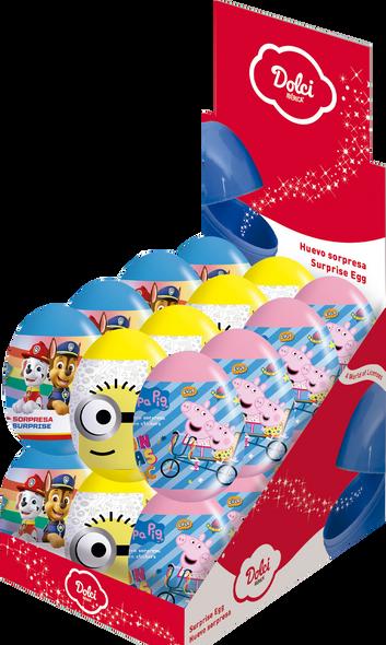 Surprise Eggs (minion, Paw patrol, Peppa Pig) - 6 x 24 x 8g
