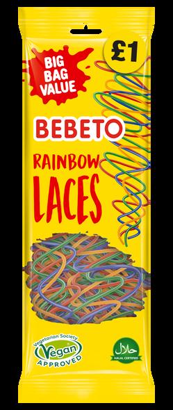 Coming Soon: Bebeto Rainbow Laces - 4 x 12 x 200g