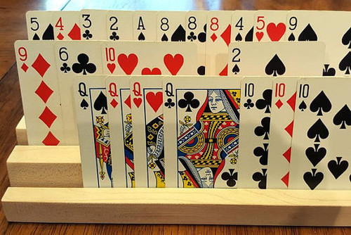 Tiered Playing Card Holder