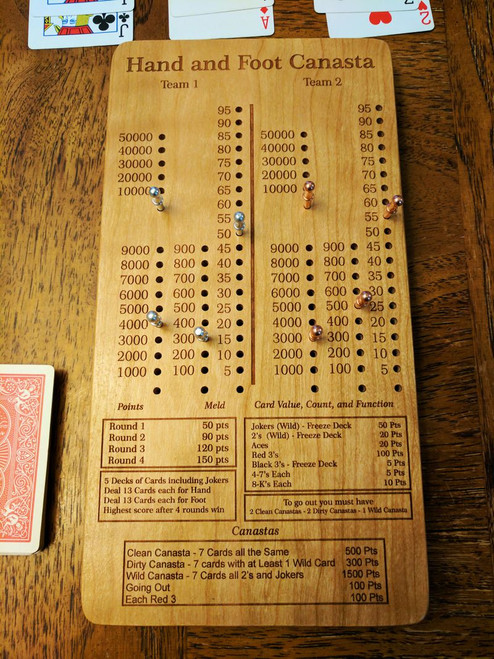Hand and Foot Canasta Scoreboard