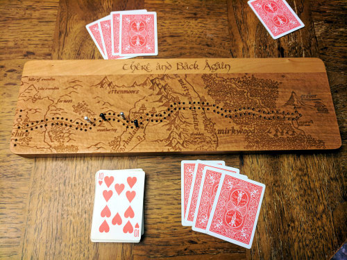 The Hobbit - There and Back Again Cribbage Board